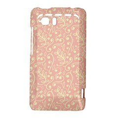 Girly Pink Leaves And Swirls Ornamental Background HTC Vivid / Raider 4G Hardshell Case