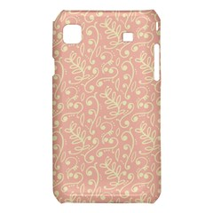 Girly Pink Leaves And Swirls Ornamental Background Samsung Galaxy S i9008 Hardshell Case