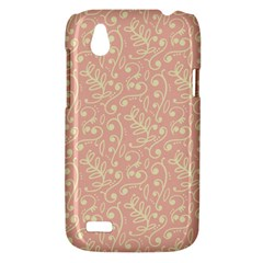 Girly Pink Leaves And Swirls Ornamental Background HTC Desire V (T328W) Hardshell Case