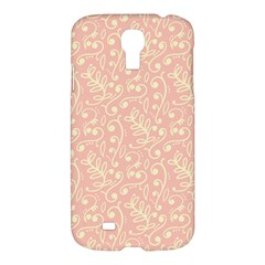 Girly Pink Leaves And Swirls Ornamental Background Samsung Galaxy S4 I9500/I9505 Hardshell Case