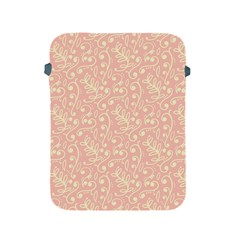 Girly Pink Leaves And Swirls Ornamental Background Apple iPad 2/3/4 Protective Soft Cases