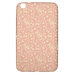 Girly Pink Leaves And Swirls Ornamental Background Samsung Galaxy Tab 3 (8 ) T3100 Hardshell Case