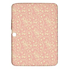 Girly Pink Leaves And Swirls Ornamental Background Samsung Galaxy Tab 3 (10.1 ) P5200 Hardshell Case