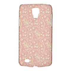 Girly Pink Leaves And Swirls Ornamental Background Galaxy S4 Active