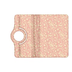 Girly Pink Leaves And Swirls Ornamental Background Kindle Fire HD (2013) Flip 360 Case