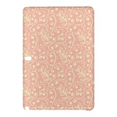 Girly Pink Leaves And Swirls Ornamental Background Samsung Galaxy Tab Pro 12.2 Hardshell Case