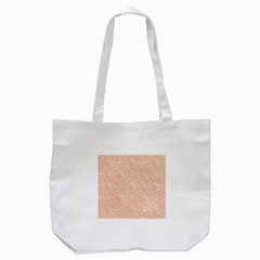Girly Pink Leaves And Swirls Ornamental Background Tote Bag (White)