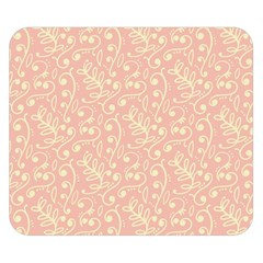Girly Pink Leaves And Swirls Ornamental Background Double Sided Flano Blanket (small)