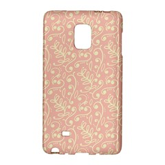 Girly Pink Leaves And Swirls Ornamental Background Galaxy Note Edge