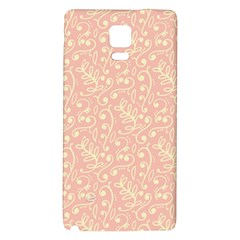 Girly Pink Leaves And Swirls Ornamental Background Galaxy Note 4 Back Case