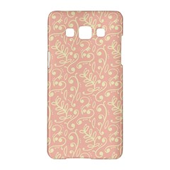 Girly Pink Leaves And Swirls Ornamental Background Samsung Galaxy A5 Hardshell Case