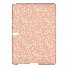 Girly Pink Leaves And Swirls Ornamental Background Samsung Galaxy Tab S (10 5 ) Hardshell Case