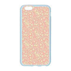 Girly Pink Leaves And Swirls Ornamental Background Apple Seamless iPhone 6/6S Case (Color)