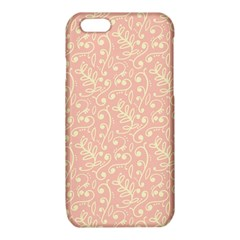 Girly Pink Leaves And Swirls Ornamental Background iPhone 6/6S TPU Case