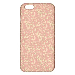 Girly Pink Leaves And Swirls Ornamental Background iPhone 6 Plus/6S Plus TPU Case