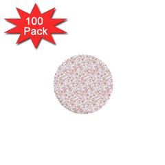 Hand Drawn Seamless Floral Ornamental Background 1  Mini Buttons (100 pack)