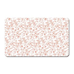 Hand Drawn Seamless Floral Ornamental Background Magnet (Rectangular)