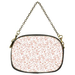 Hand Drawn Seamless Floral Ornamental Background Chain Purses (Two Sides)