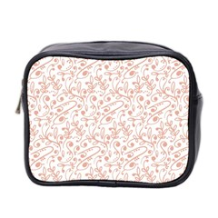 Hand Drawn Seamless Floral Ornamental Background Mini Toiletries Bag 2-Side