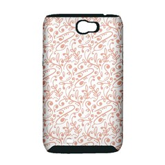 Hand Drawn Seamless Floral Ornamental Background Samsung Galaxy Note 2 Hardshell Case (PC+Silicone)
