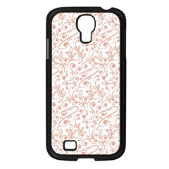 Hand Drawn Seamless Floral Ornamental Background Samsung Galaxy S4 I9500/ I9505 Case (Black)