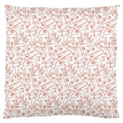 Hand Drawn Seamless Floral Ornamental Background Large Flano Cushion Case (Two Sides)