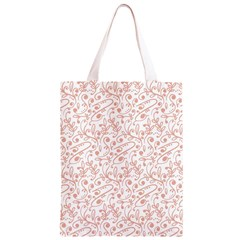 Hand Drawn Seamless Floral Ornamental Background Classic Light Tote Bag