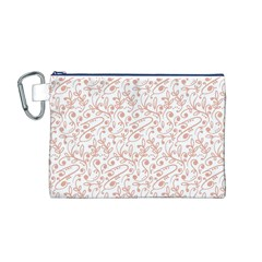 Hand Drawn Seamless Floral Ornamental Background Canvas Cosmetic Bag (M)
