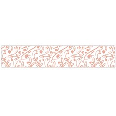 Hand Drawn Seamless Floral Ornamental Background Flano Scarf (Large)