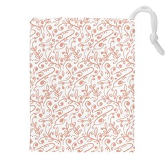 Hand Drawn Seamless Floral Ornamental Background Drawstring Pouches (XXL)
