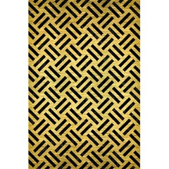 Woven2 Black Marble & Gold Brushed Metal (r) 5 5  X 8 5  Notebook