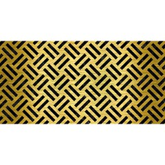 Woven2 Black Marble & Gold Brushed Metal (r) You Are Invited 3d Greeting Card (8x4)