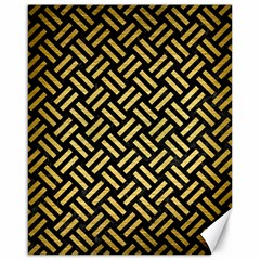 Woven2 Black Marble & Gold Brushed Metal Canvas 16  X 20