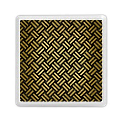 Woven2 Black Marble & Gold Brushed Metal Memory Card Reader (square)