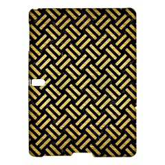 Woven2 Black Marble & Gold Brushed Metal Samsung Galaxy Tab S (10 5 ) Hardshell Case