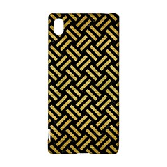 Woven2 Black Marble & Gold Brushed Metal Sony Xperia Z3+ Hardshell Case