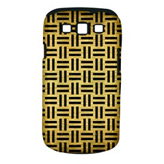 Woven1 Black Marble & Gold Brushed Metal (r) Samsung Galaxy S Iii Classic Hardshell Case (pc+silicone)