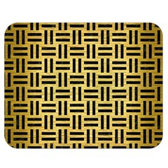 Woven1 Black Marble & Gold Brushed Metal (r) Double Sided Flano Blanket (medium)