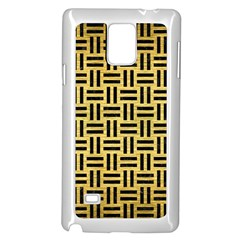 Woven1 Black Marble & Gold Brushed Metal (r) Samsung Galaxy Note 4 Case (white)