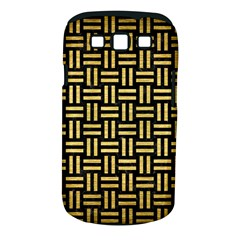 Woven1 Black Marble & Gold Brushed Metal Samsung Galaxy S Iii Classic Hardshell Case (pc+silicone)