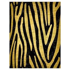 Skin4 Black Marble & Gold Brushed Metal (r) Drawstring Bag (large)