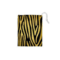 SKN4 BK MARBLE GOLD (R) Drawstring Pouches (XS)
