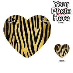 Skin4 Black Marble & Gold Brushed Metal Playing Cards 54 (heart)