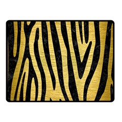 Skin4 Black Marble & Gold Brushed Metal Fleece Blanket (small)