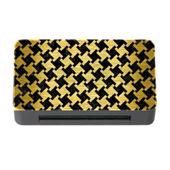 Houndstooth2 Black Marble & Gold Brushed Metal Memory Card Reader With Cf