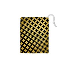 HTH2 BK MARBLE GOLD Drawstring Pouches (XS)