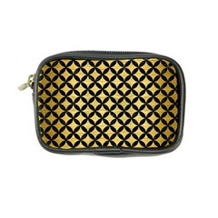 Circles3 Black Marble & Gold Brushed Metal (r) Coin Purse