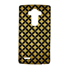 Circles3 Black Marble & Gold Brushed Metal (r) Lg G4 Hardshell Case
