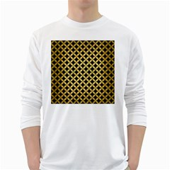 Circles3 Black Marble & Gold Brushed Metal Long Sleeve T Shirt