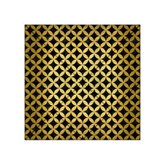 Circles3 Black Marble & Gold Brushed Metal Acrylic Tangram Puzzle (4  X 4 )
